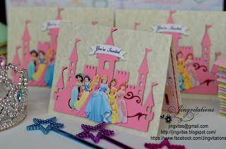 disney princess castle birthday invitation