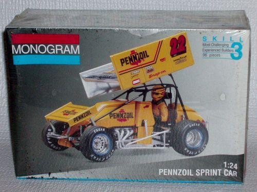 SEALED Monogram Model Kit 2445 Pennzoil Sprint Car #22 Jac Haudenschild 1:24