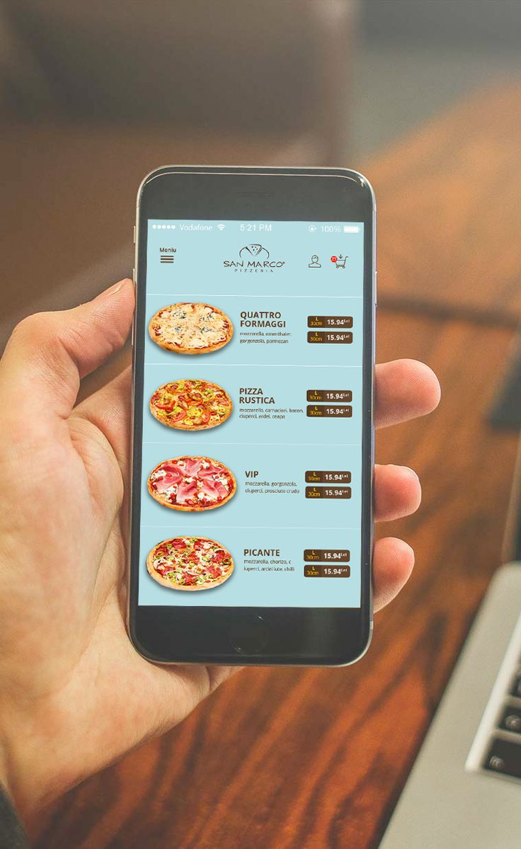 A pizza delivery App build for Android and iOS.