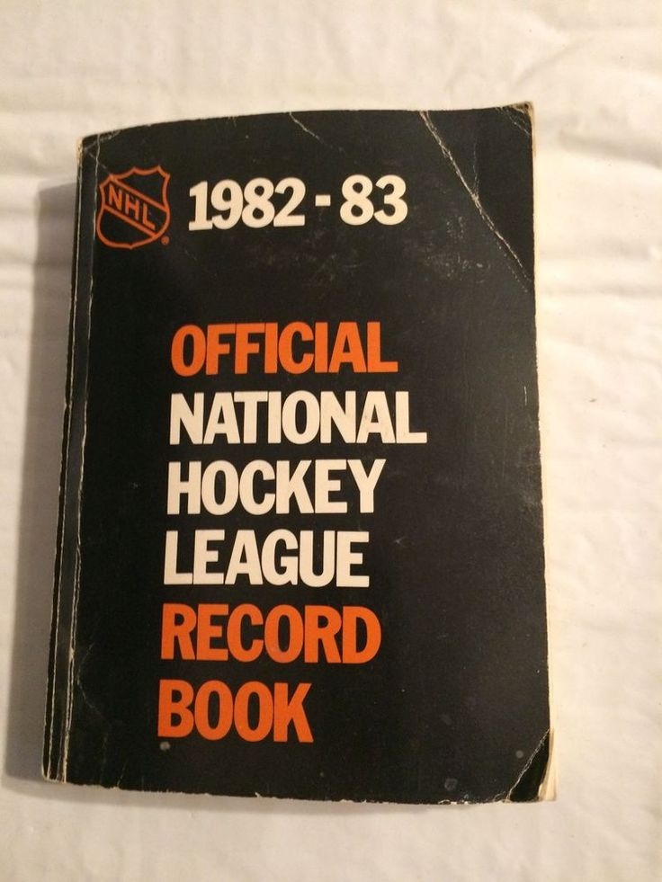 Official NHL Record Book 1982-83 National hockey League