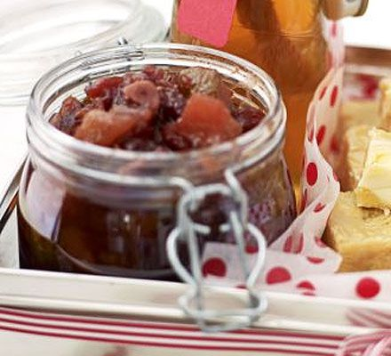 A Christmassy relish which will keep in the cupboard for up to six months, making it perfect for make-ahead gifts