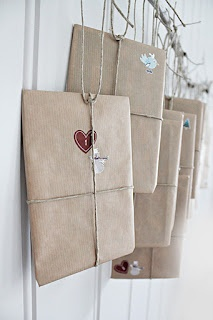 simple nice Advent calendar - also love this kraft wrap for wrapping daily…