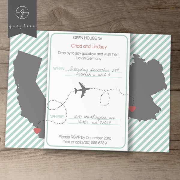 Moving / Going Away Party Invitations or Announcements by Kim Harrington, via Behance