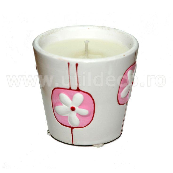 Lumanare parfumata in pahar cu model - Util Deco