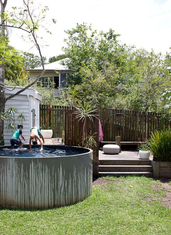 Awesome plunge pool! Converted shop in Auchenflower - Photo by Elizabeth Santillan www.walkamongthehomes.com.au