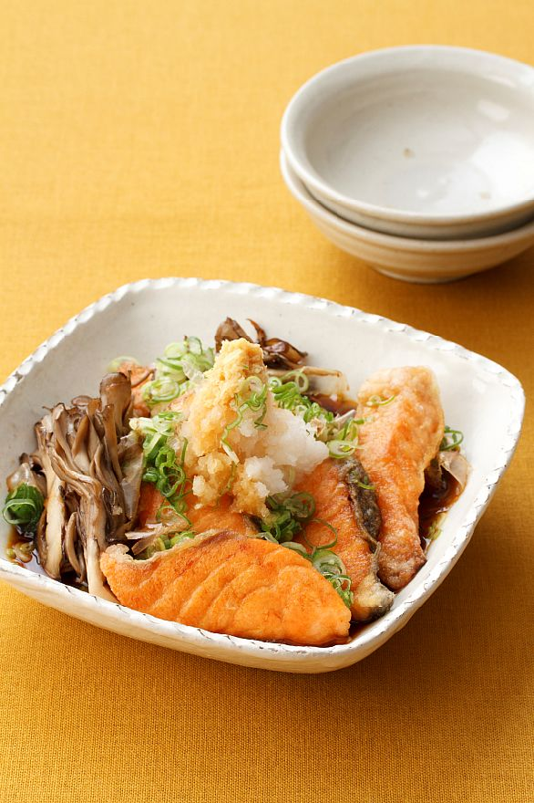 Japanese Salmon with Mushrooms
