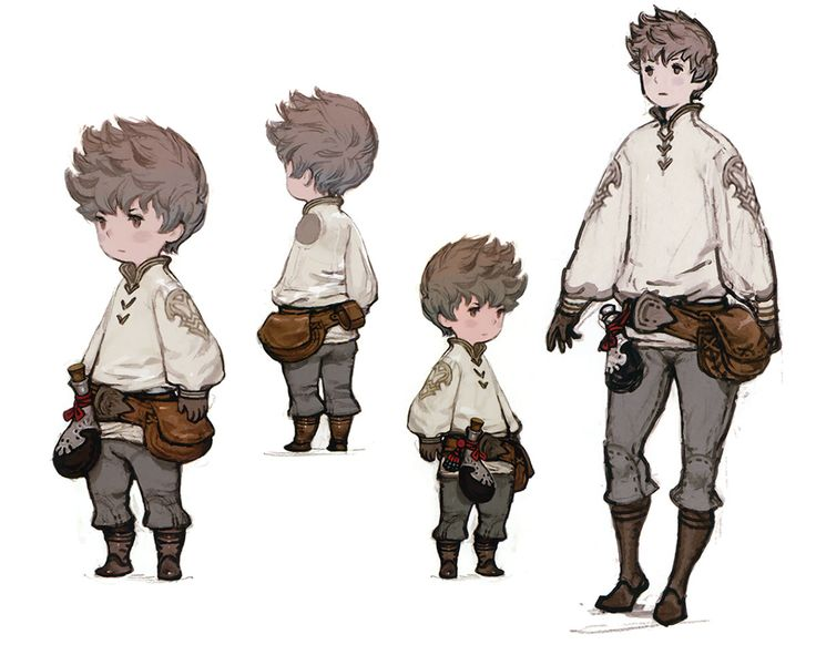 Tiz Concepts - Characters  Art - Bravely Default --Referente Personaje
