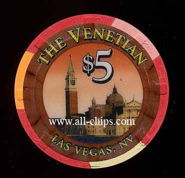 Las Vegas Casino Chip of the Day is a $5 Venetian 1st issue you can get here http://www.all-chips.com/ChipDetail.php?ChipID=17920 #casinochips #Casino #venetian