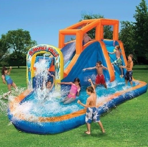 inflatable water slides pool toy back yard waterslide party supplies accessory - Inflatable Pool Slide