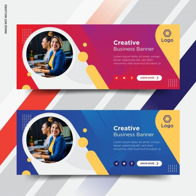 Business Facebook Cover Set Facebook Ads Design Website Banner Design Banner Design Inspiration