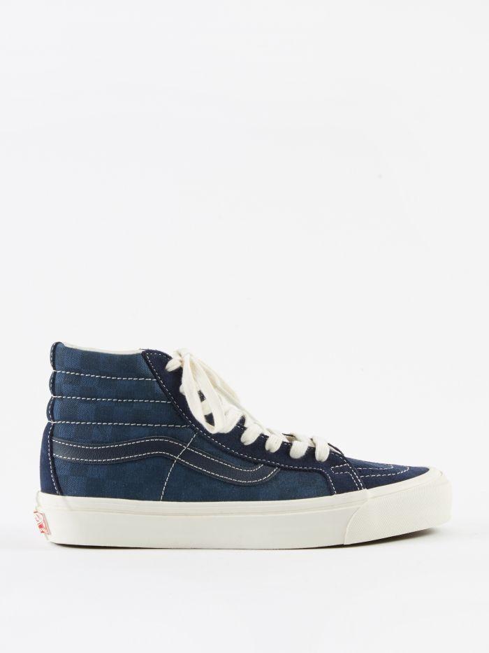 ed845b5935c974 Vans Vault OG SK8-Hi LX - (Suede Canvas) Checkerboard Dress Blue ...