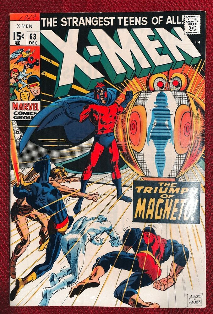 X Men 63 Very High Grade White To White Marvel Comics Neal Adams Artwork Ebay Comics Marvel Comics Book Cover Artwork
