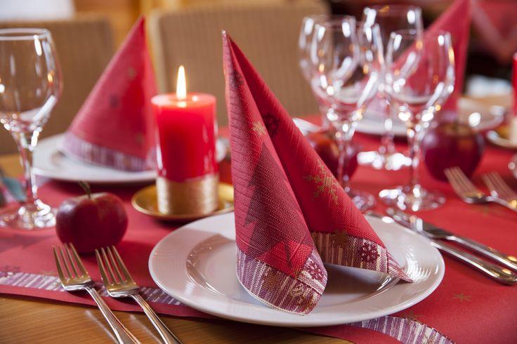 26 besten tischdekoration winter bilder auf pinterest for Duni servietten weihnachten