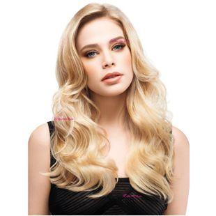 Lunghi ondulati biondi sintetici parrucche peruca, signore di qualità a buon mercato parrucche piene dei capelli, lato parte centrale dei capelli delle donne parrucca