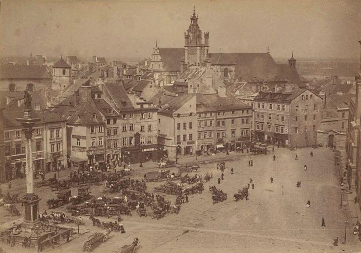 Mamy dla Was prawdziwą perełkę. Nieznane zdjęcia Warszawy z lat 1870-tych! Cudo! Plac Zamkowy 1870
