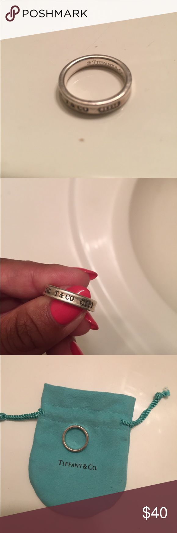 Tiffany and Company Authentic Ring, size 6 Comes with authentic Tiffany and Company Pouch. Tiffany & Co. Jewelry Rings