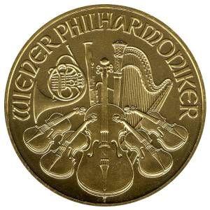1 Unze Gold Philharmoniker - Rückseite