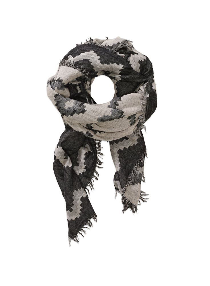 WILFRED DIAMOND MOSAIC BLANKET - Perfectly oversized to double as a scarf or a wrap