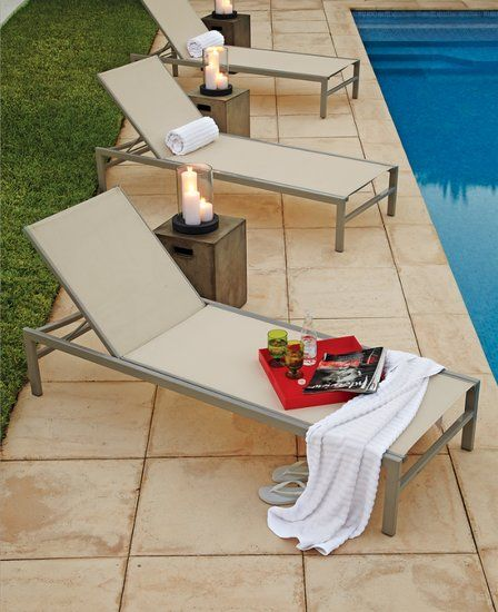 Relax poolside with this minimalist chaise - Outdoor Chaise Lounges