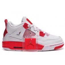 Air Jordan 4 Couples White/Red Discount Jordans