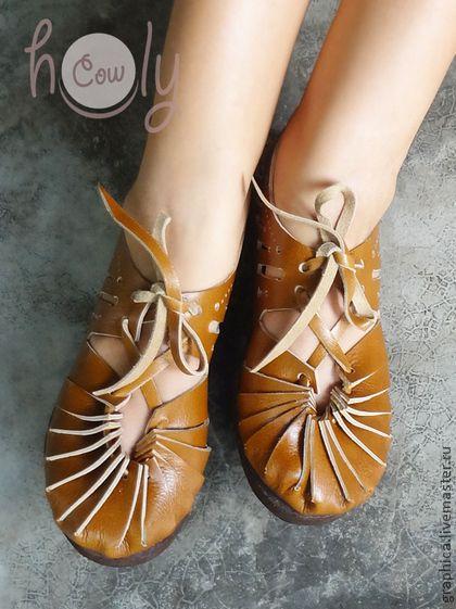 """Светло-коричневые кожаные сандалии """"Sandy Summer"""", $108"""