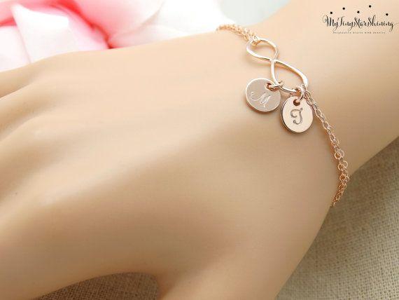 Personalized Infinity Bracelet Infinity by MyTinyStarShining