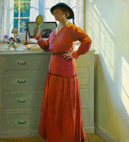 Reflections, 1916 by Harold harvey (1874-1941)