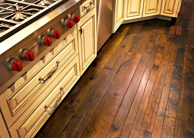 how to make smooth wood floor look more rustic