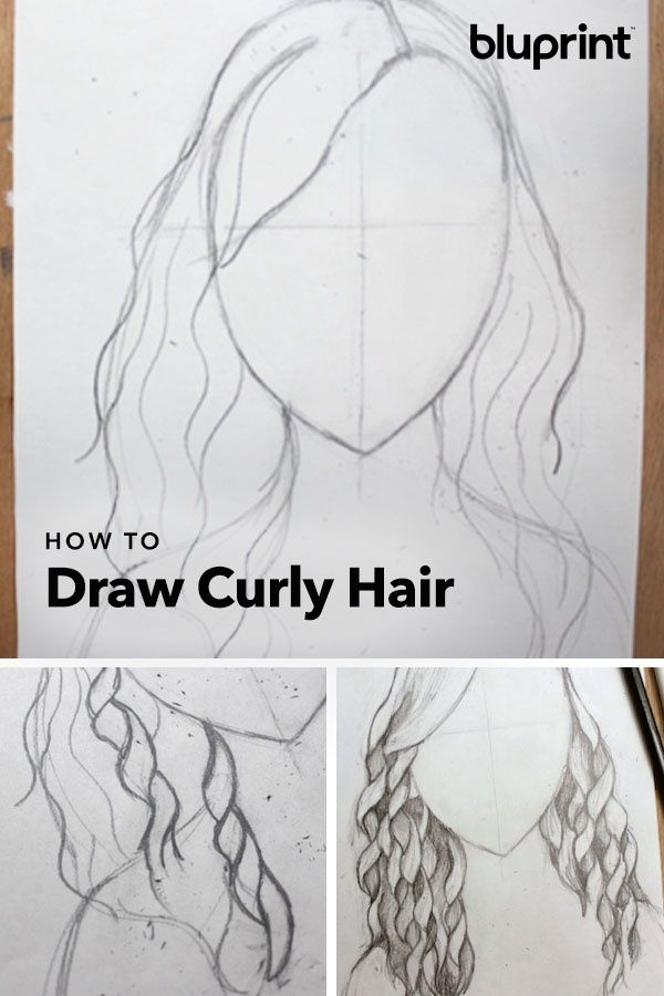 Easy Step By Step Instructions For Drawing Curly Hair Drawing Hair Tutorial Curly Hair Styles Realistic Drawings