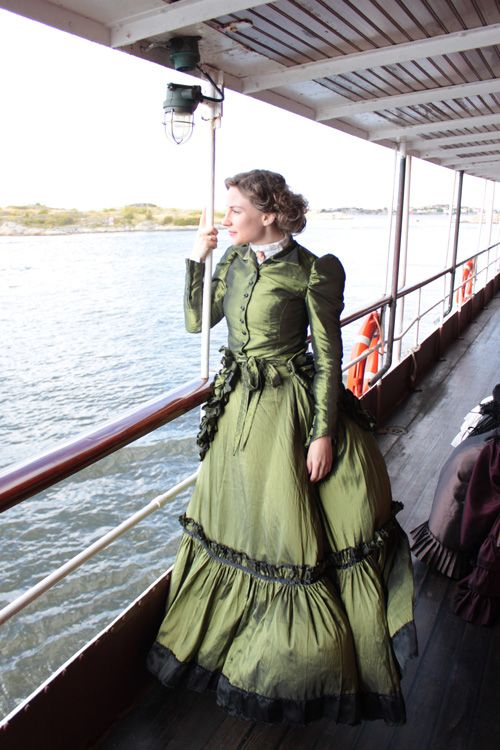 Me in my victorian dress on a steamboat.