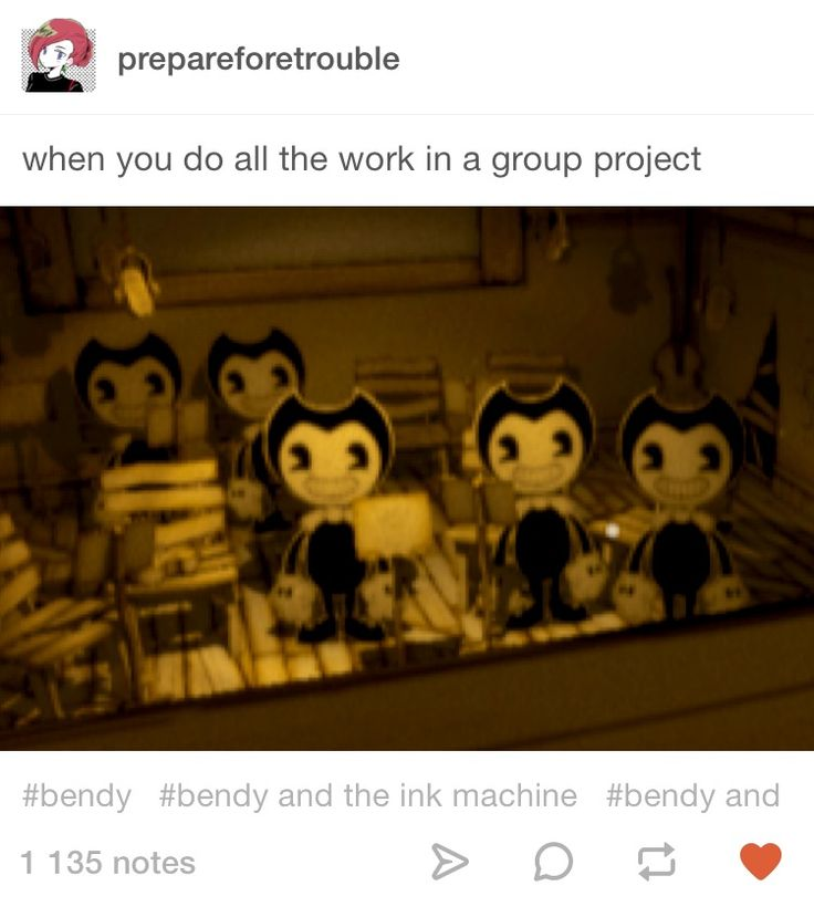 Bendy and the ink machine Tumblr post
