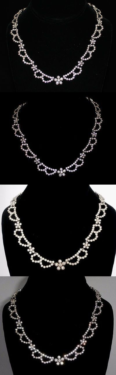 Necklaces and Pendants 165893: Signed Christian Dior Necklace Rhodium Set With Clear Crystals New -> BUY IT NOW ONLY: $219.99 on eBay!
