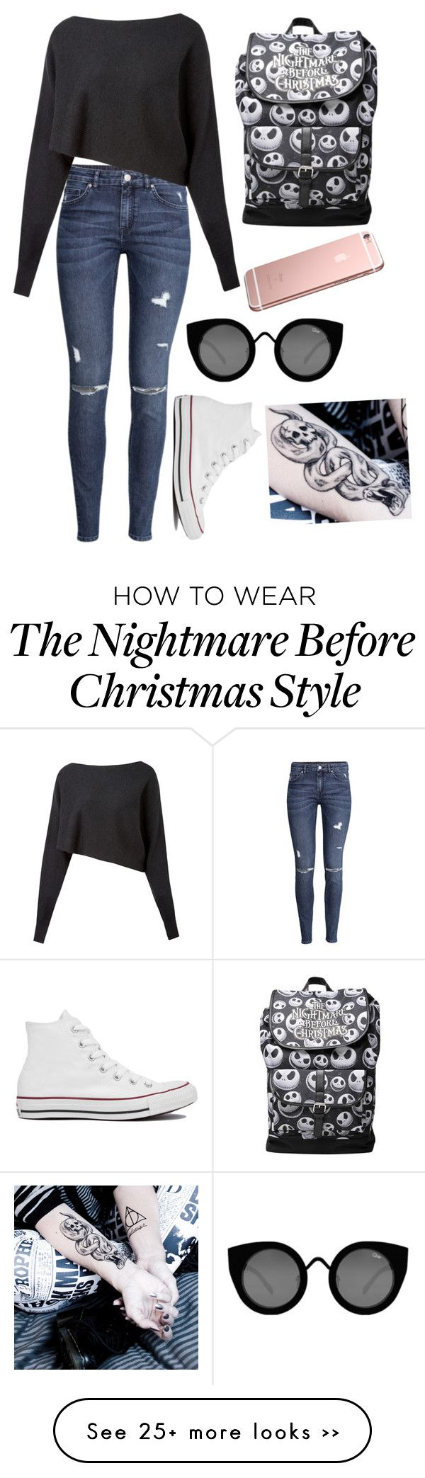 """""""In my head"""" by xxabbeybearxx on Polyvore featuring H&M, Crea Concept, Converse and Quay"""