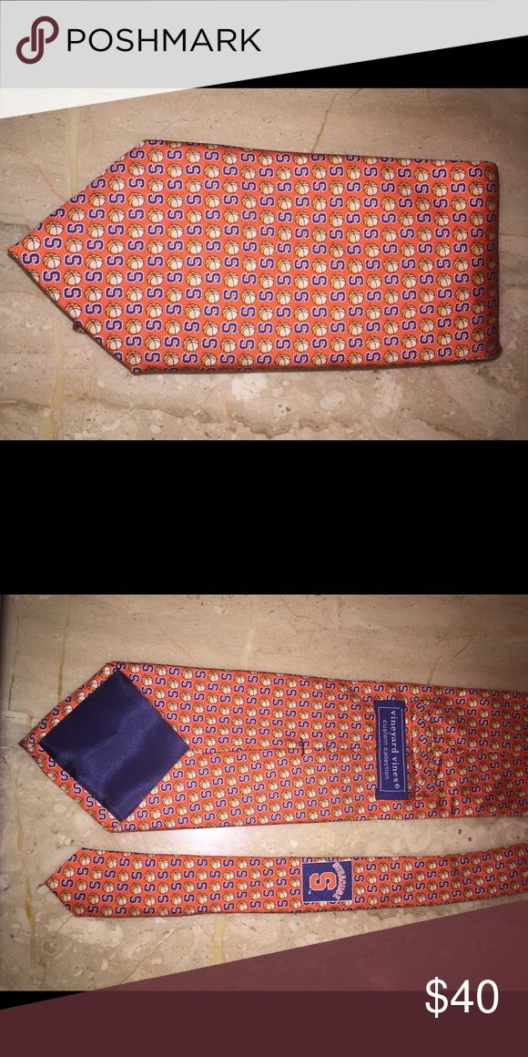 "Vineyard Vines Tie Syracuse Orange Basketball Up for sale is a Vineyard Vines Syracuse Orange Basketball tie.  This is a great 100% silk tie, made in the USA.  It measures about 3 7/8"" at it's widest point, and 59"" in length.  In excellent condition. Vineyard Vines Accessories Ties"