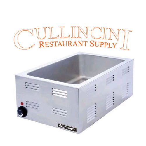 New Adcraft 120v Ss Full Pan Size Food Warmer Fw1200w