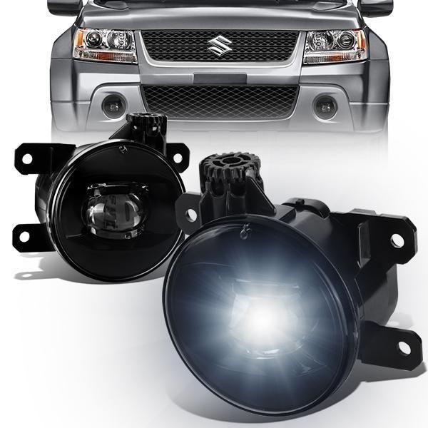 06 14 Suzuki Grand Vitara Sx4 Led Smoked Lens Fog Lights W Light Bulbs Grand Vitara Grand Vitara Suzuki Sx4