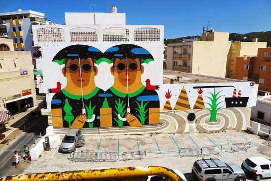Agostino Iacurci – Mural for Bloop Festival |