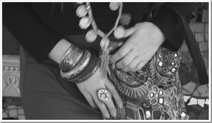 Tribal jewellery from India, Nepal and Banjara bag.
