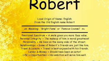 Robert Name Meaning