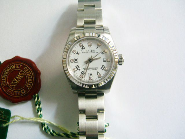 #Rolex #Oyster_Perpetual #Ladies #Watch 176234 – Diamond dial with roman numerals #swisswatchdealers
