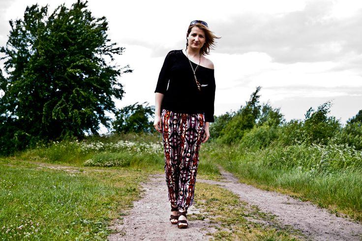 LOTD: wzorzyste spodnie na lato