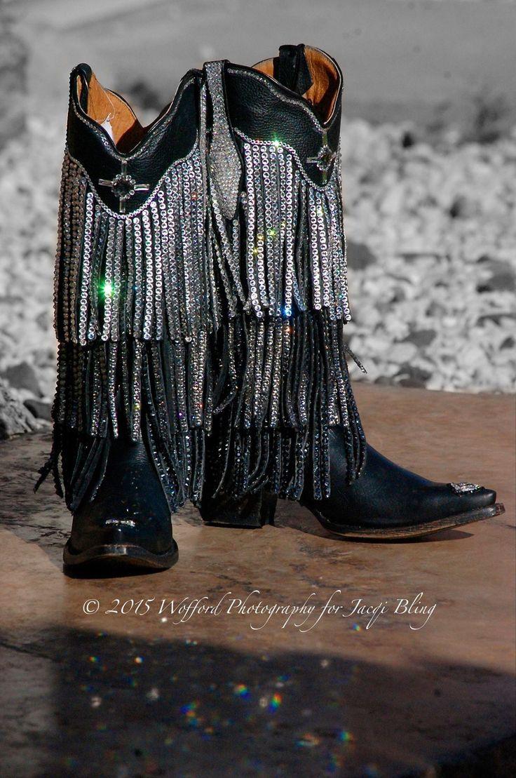 Jacqi bling swarovski cowgirl boots