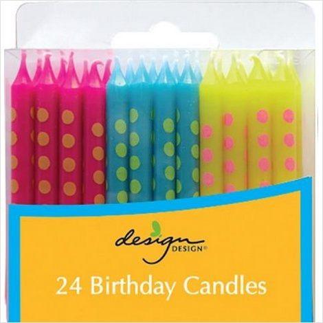 Bright Dots Candles #9696274 $4.99 www.lambertpaint.com