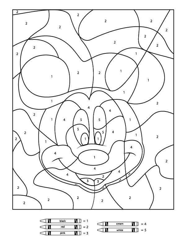 Your Children Will Love These Free Disney Color By Number ... | number coloring pages for kindergarten