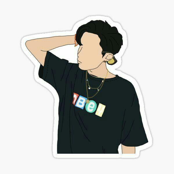 Pin By Lamar On Theme Sticker Art Bts Drawings Bts Fanart