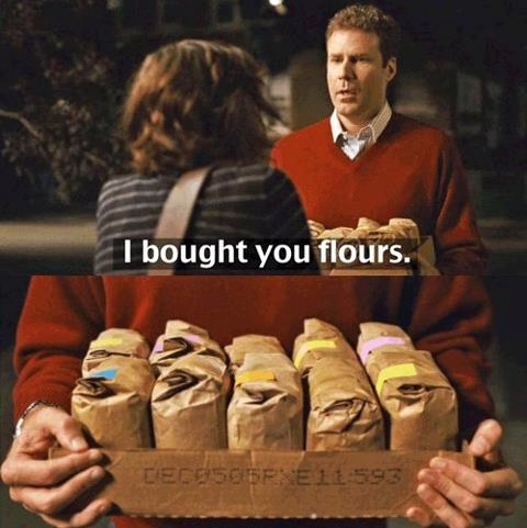 i brought you flours.: