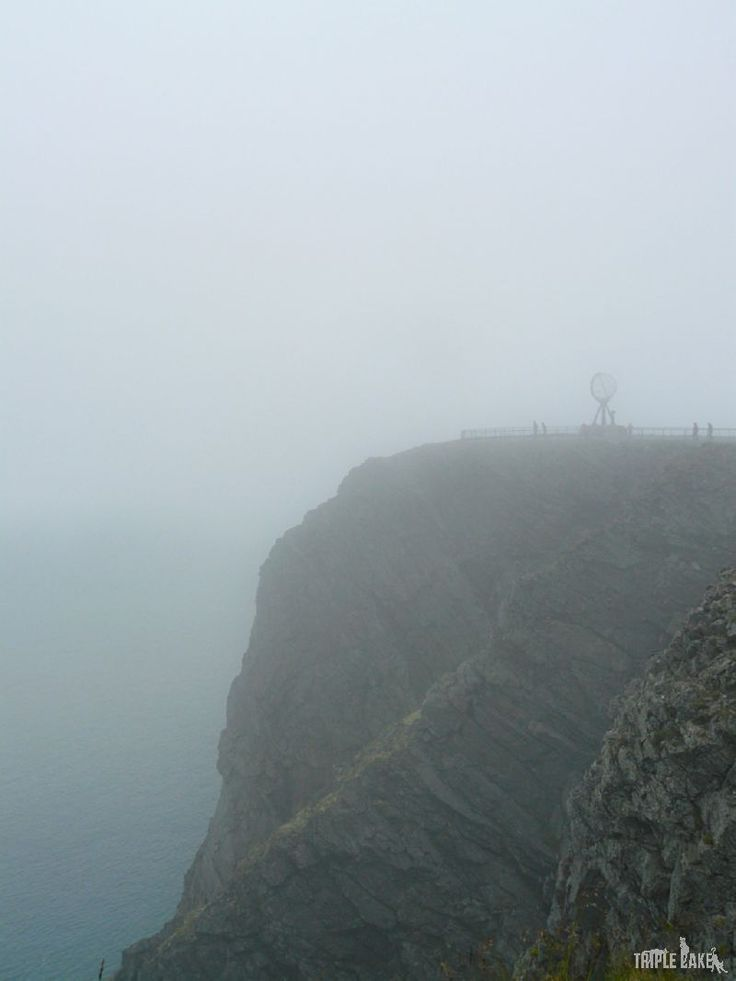Nordkapp covered with the fog