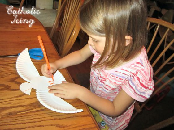 Holy Spirit Craft- Make a Dove from a Paper Plate