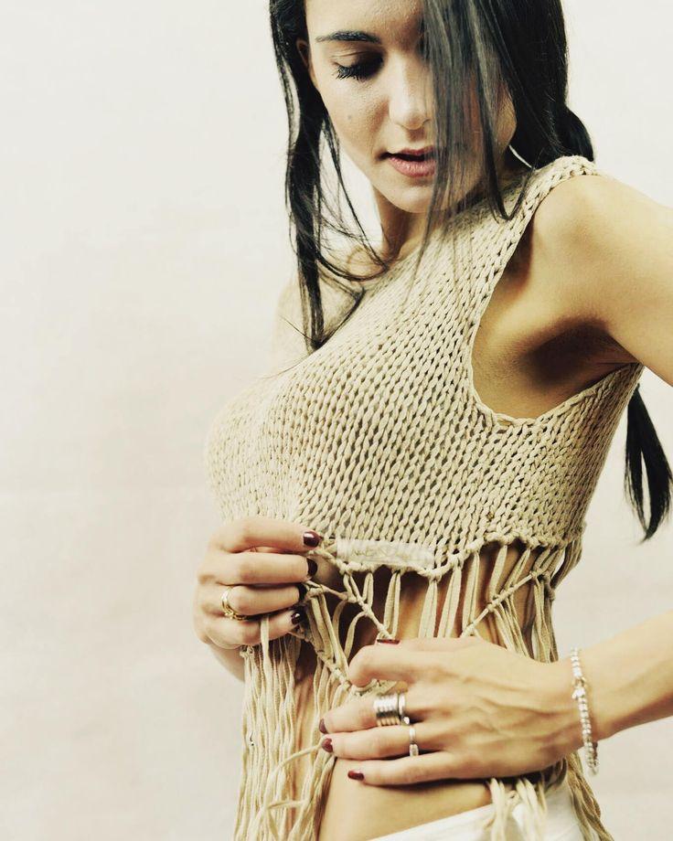 UNIQUE Macrame Top. Crochet boho top.Bohemian clothing.Macrame.Bohemian top.Knit top.Crochet tops for women.Crop tops.Halter top.Wedding top by NinElDesign on Etsy