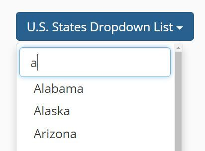 Bootstrap Dropdown Filter is a small and simple jQuery plugin which adds an input based live filter capability to your Bootstrap dropdown list.